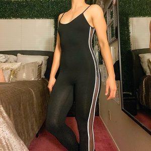 Black Jumpsuit w/ Mesh Sides